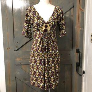 Umgee Tribal Print Dress Size Small
